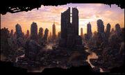 Ruined city w