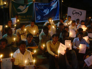 Candles for freedom