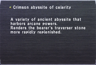 Crimson abyssite of celerity