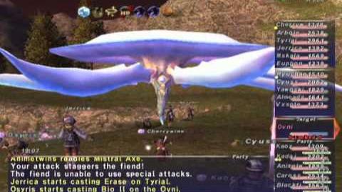 FFXI NM Saga 252 Ovni NM Full Battle