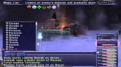 FFXI NM Saga 383 Akvan (Voidwatch NM) Full Battle