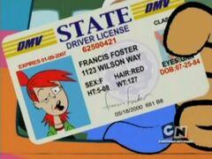 Frankie's driver's license