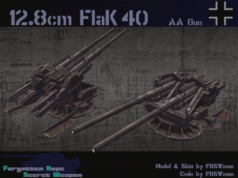 12.8 cm Flak Zwilling 40 - For...