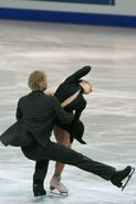 Isabelle Delobel & Olivier Schoenfelder OD Spin 2 - 2007 Europeans