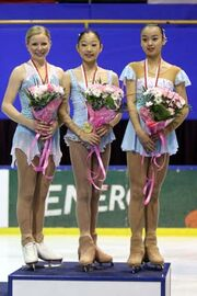 2007-2008 JGPF Ladies Podium