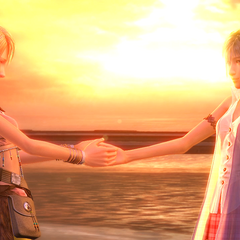 Vanille apologizes to Serah for her actions.