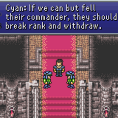 Cyan's strategy to beat back the attackers (GBA).
