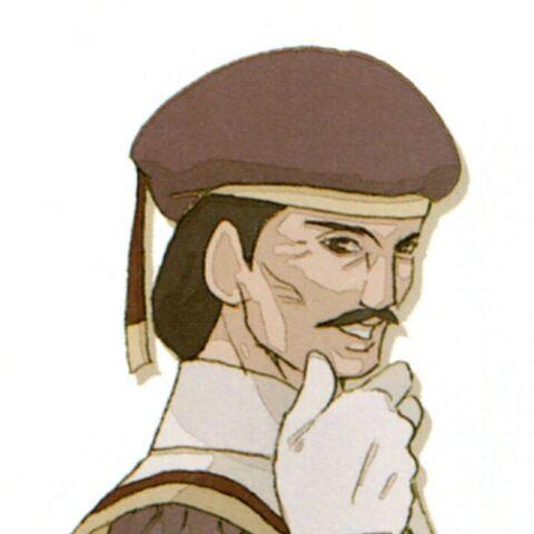Promotional artwork of President Karst by Yuzuki Ikeda.