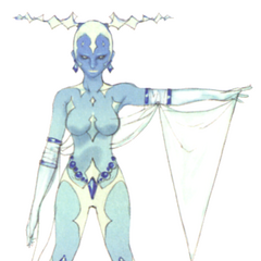 Akira Oguro artwork of Shiva for <i>Final Fantasy IV</i> (DS).