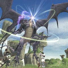 Players fighting Bahamut.