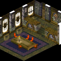 Inside of Riovanes Castle, as shown in a cutscene.