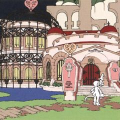 Concept artwork of Queen Stella's house.