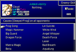 FFVII Magic Menu 4