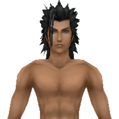 Model of Zack in swimwear from <i>Crisis Core -Final Fantasy VII-</i>.