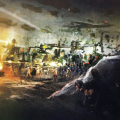 Concept art for the key art.