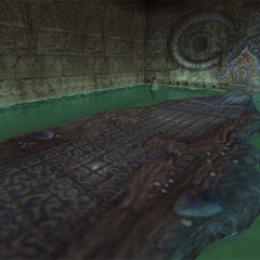 A battle background in Gizamaluke's Grotto, when fighting Gizamaluke.