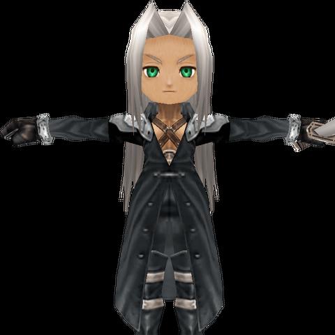 Sephiroth render.