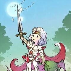 Artwork of Paladin Cecil triumphant by Airi Yoshioka.