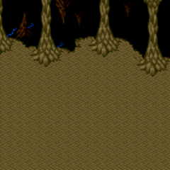 Battle background on land. (SNES).