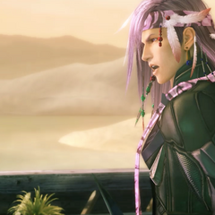 Caius threatens Serah and Noel in Oerba -200 AF-.