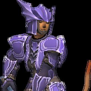 A Mithra Dragoon wearing Artifact Armor.