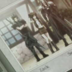Photograph snapped by a villager in <i>Last Order -Final Fantasy VII-</i>.