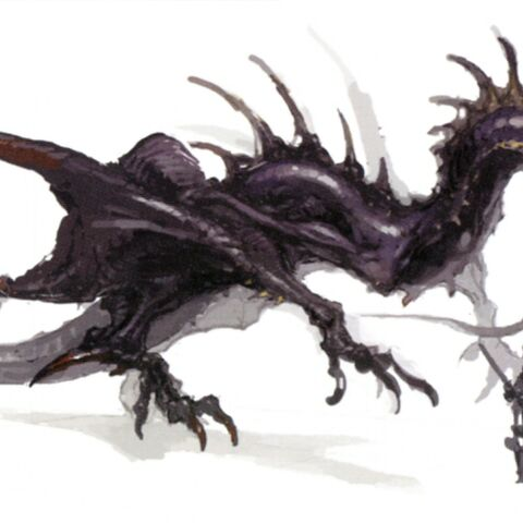 Concept art of an Amphiptere.