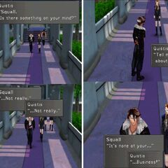 Quistis talking with Squall.