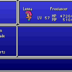 The Magic menu in the GBA version.