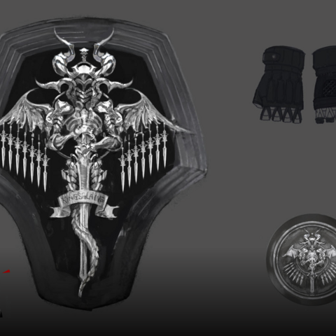 Artwork of Kingsglaive accessories.