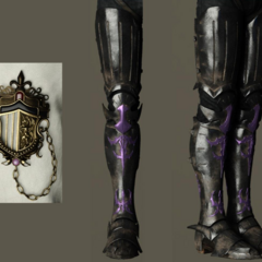 Boots and insignia.