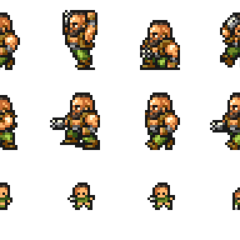 Set of Barret's sprites.