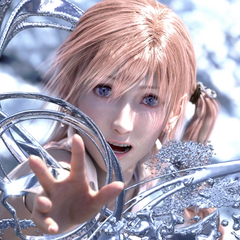 Serah reaches out to Snow.