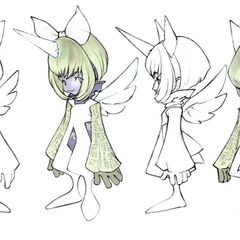 Concept art of Eiko in Trance.