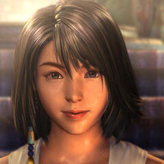 Yuna in Besaid Temple.