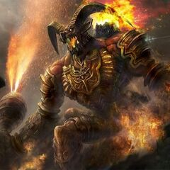 Concept art of Ifrit.