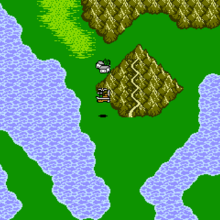 Dragon's Peak on the World Map (NES).
