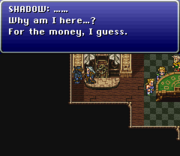 FFVI SNES Shadow on Blackjack
