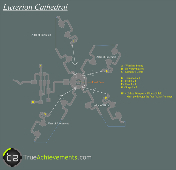 Luxerion Cathedral Map