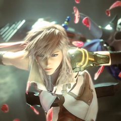 Lightning during her fight with Garland in the opening FMV.