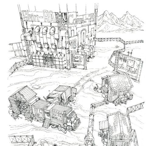 Concept art of the prison.
