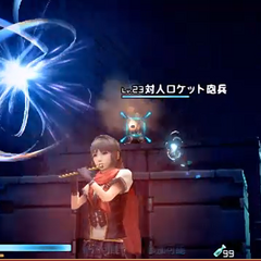 Gameplay in her summer outfit.