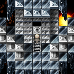 Entrance to first Challenge Dungeon (PSP).