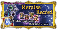 FFRK Reraise Record Nightmare Dungeon