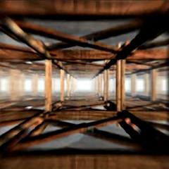 Frame from the tracks falling sequence.