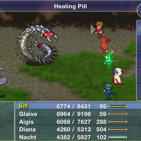 Healing Pill in <i><a href=