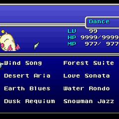 Mog's Dance menu (SNES).