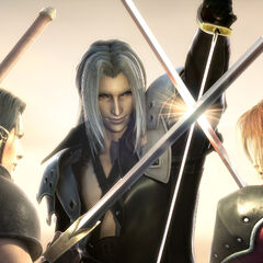 Sephiroth, Angeal, and Genesis.
