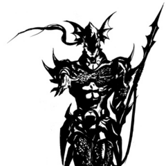 Amano's illustration of Kain for <i>Complete Collection</i>.