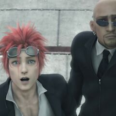 Reno with Rude in <i>Final Fantasy VII: Advent Children</i>.